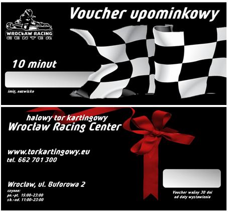 Karta podarunkowa na gokarty Wrocław Racing Center